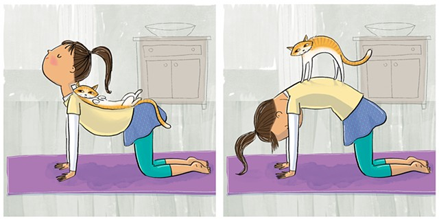 Violet Lemay, illustrator, children's book illustrator, middle grade illustrator, tween, yoga, yoga cat, animation, animator