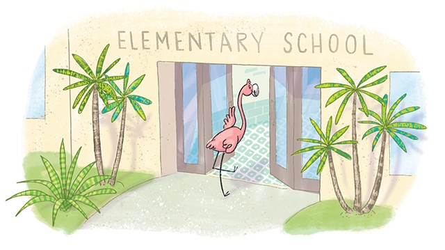 Violet Lemay, children's book illustrator, Doña Rosa, Highlights High Five, flamingo illustration, picture book illustrator