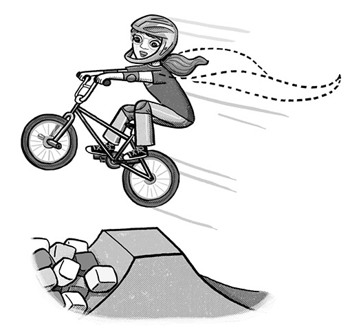 Violet Lemay, Shred Girls, bmx bike, YA, MG, middle-grade young adult, tween, strong girl