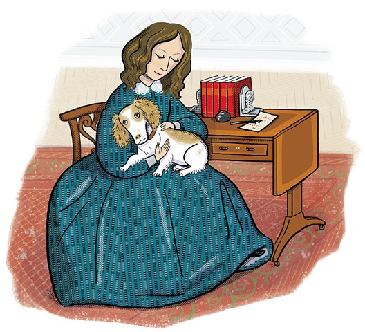 Elizabeth Barrett Browning, Violet Lemay, Artists and Their Pets, kidlit artist, middlegrade artist, children's book illustrator, picture book illustrator