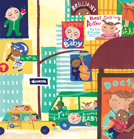 Violet Lemay, children's book illustrator, New York babies, New York kids, NY babies, New York Baby, Times Square