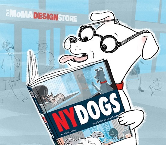 NY Dogs, MoMA, Museum of Modern Art, dogs, city dog, dog illustration, Violet Lemay