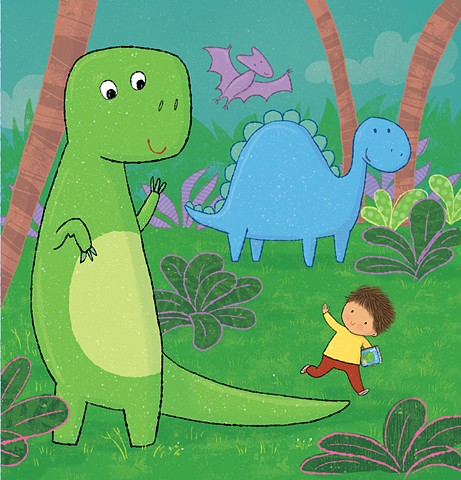 Violet Lemay, children's book illustrator, dinosaur, dino, Library Babies