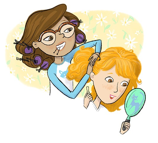 Violet Lemay, kid lit art, children's book illustration, tweens, fun art, characters, watercolor