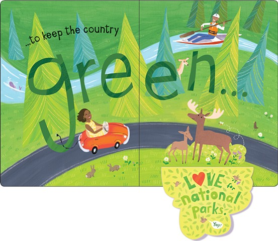 Violet Lemay, children's book illustrator, author, children's book writer, Obama, Barack Obama, Michelle Obama, lift the flap, book, biography, history, green, environment, electric car, national parks, moose, canoe