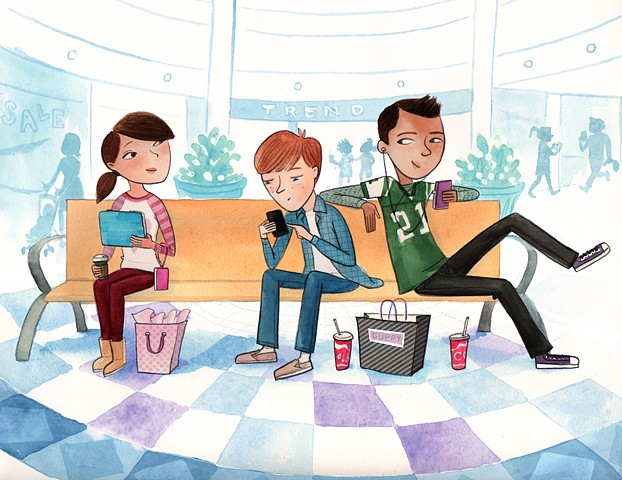 mall, tweens, mall bench, tween girl, tween boy, romance, tween romance, shopping, friends