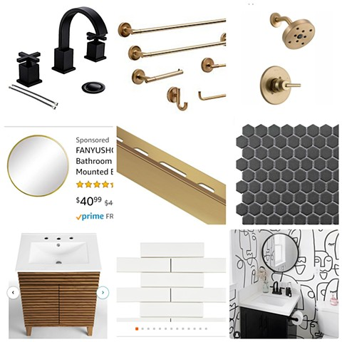 Bathroom Mood Board (example of a follow up to a remote consultation with product links provided)