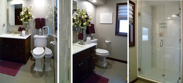 Damask Bath Remodel: 1Bath+2Ways