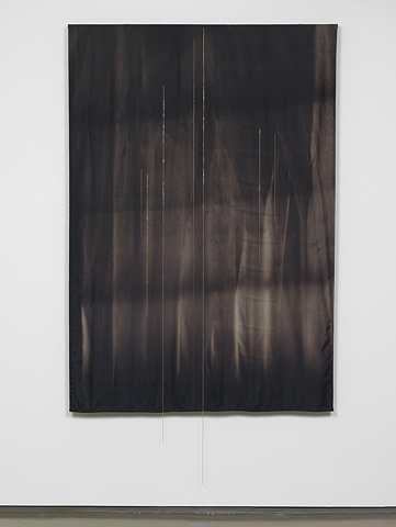 Untitled (Black Fabric with Chains), 2009