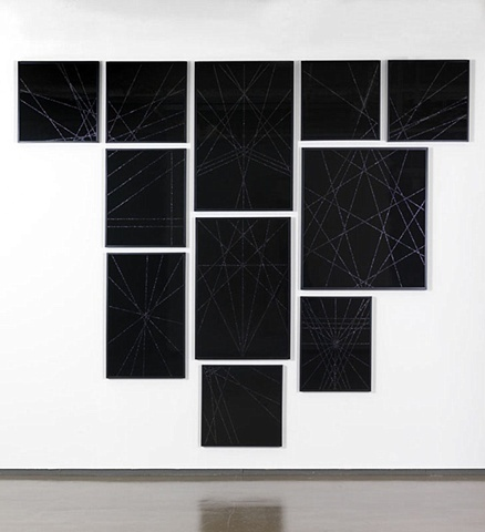 Untitled (Black Geometric Group II), 2009