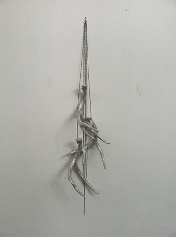 Untitled (Three Hanging Crystal Deer Sheds), 2011