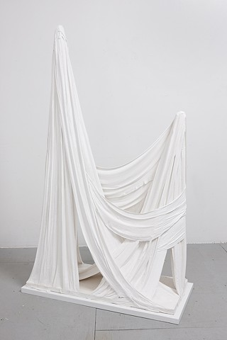 Untitled (Plaster and Fringe, Two Peaks), 2012