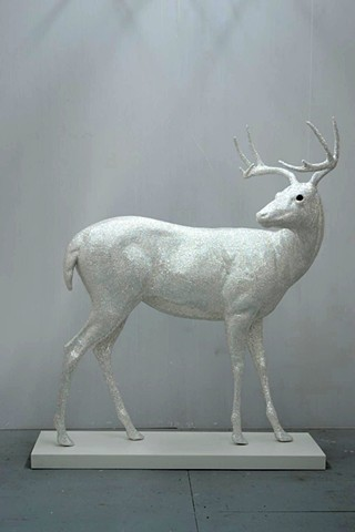 Untitled (standing deer upright sweep)