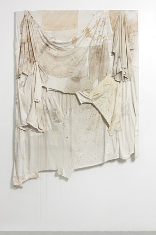 Untitled (White Shirt and Chains Panel), 2012
