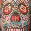 Day of the Dead Skull with Marigolds