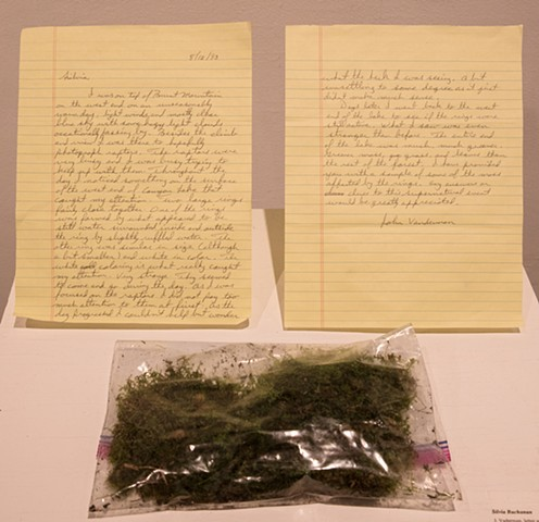 Silvia Buchanan J. Vaderman, letter and moss