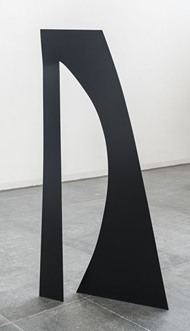 "Untitled, Steel and paint, Dimensions: 74.8 x 36.22 x 23.62 "", 190 x 92 x 60 cm.