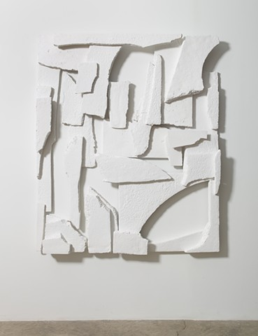 "Breakups No.3 | Painted resin | 72"" x 61"" in 