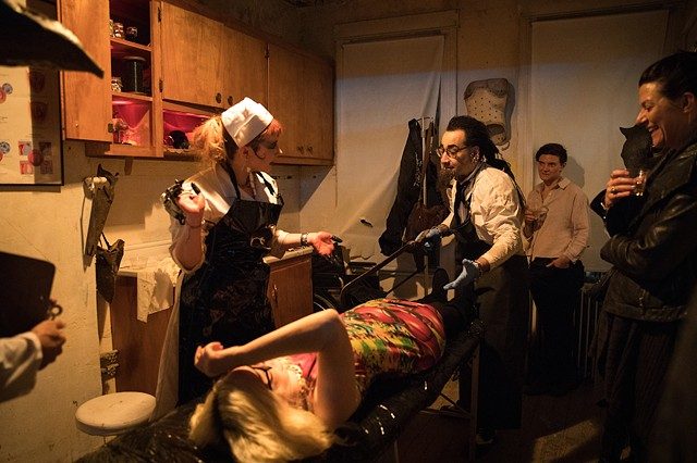 Psychic Surgery at Dark Before Dawn (photo by Walter Wlodarczyk)