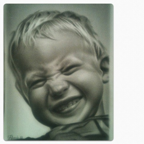 my son, dry brush painting for his mom, thanks sam for a great son