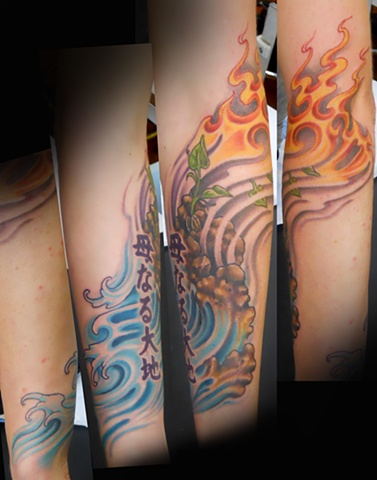 4 elements tattoo