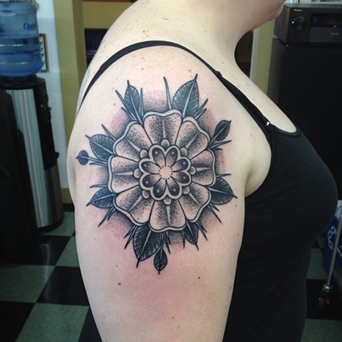 Stippled Flower Mandala