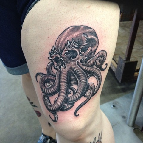 Skull Octopus Tattoo