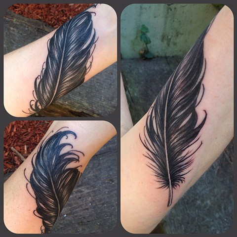 Crow Feather Tattoo