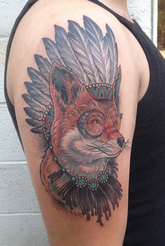 Native American Fox Tattoo