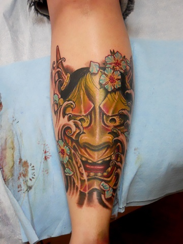 Hanya Mask Tattoo