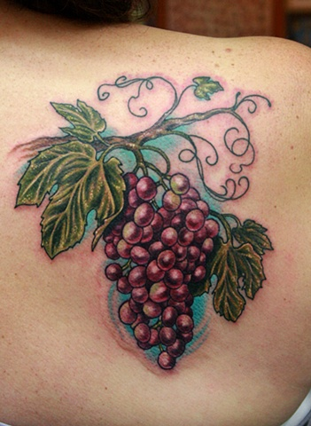 Wine Grapes Tattoo