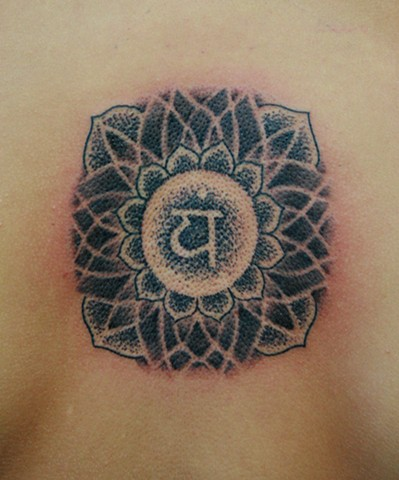 Heart Chakra Stipple Tattoo