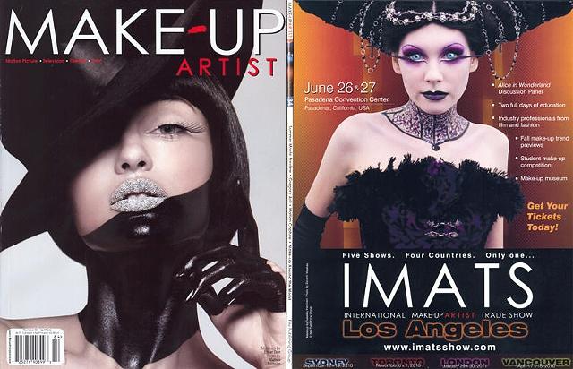 Back Cover for Make-Up Artist Magazine