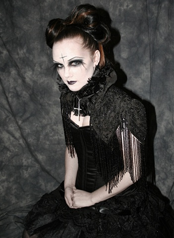 goth shoot for IMATS entry to themed contest. Model is Amanda west
