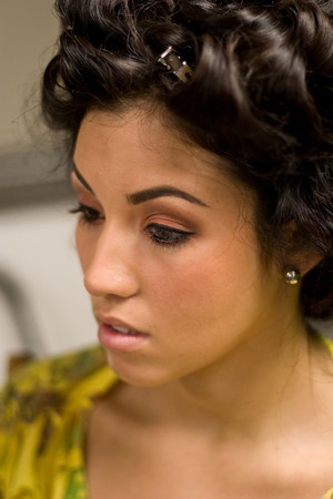 makeup detail shot from Teen Life and Style fashion show