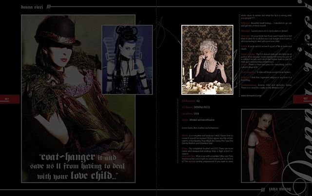 Tearsheet from Goth Magazine