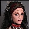 Prosthetic makeup on Ashley