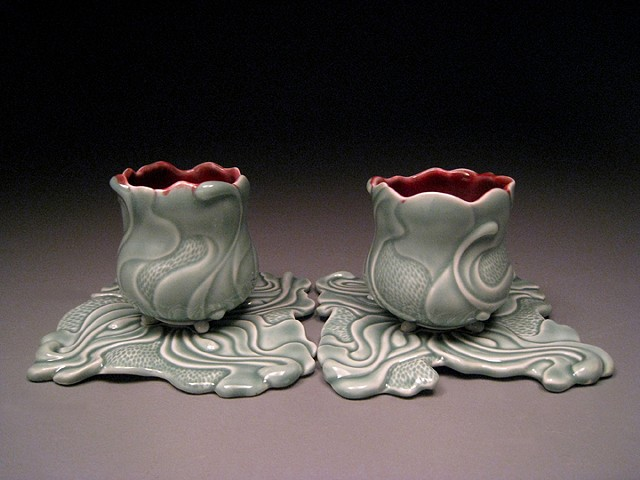 Sensual Surrounding Cups & Saucers I