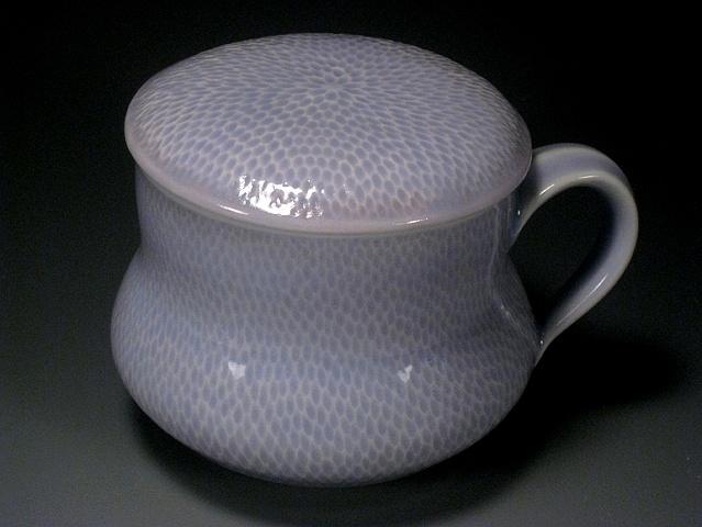 Blue Tea Cup & Lid