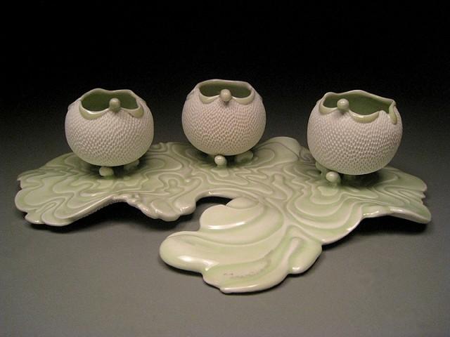 Water Ripple Tea Bowls Set #2