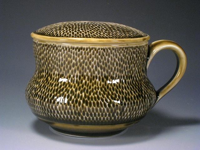 Amber Tea Cup & Lid