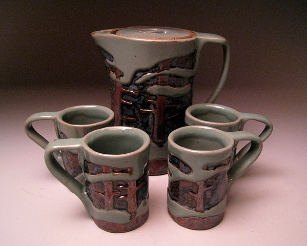 Slab Tea Pot Set #5