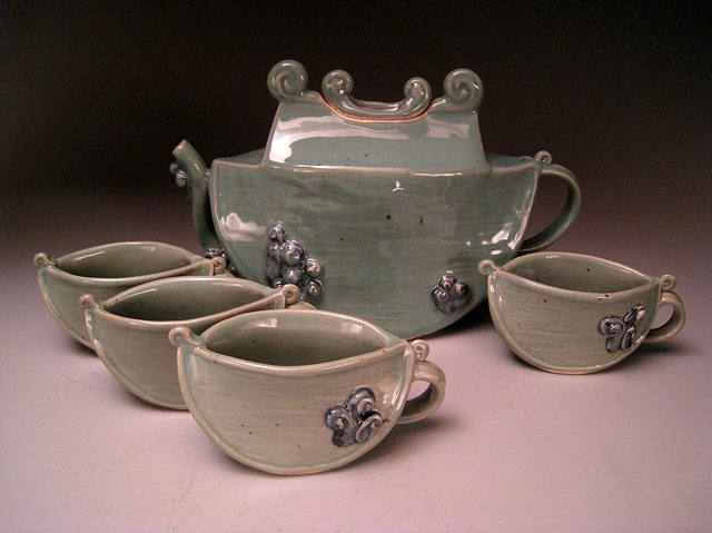 Slab Tea Pot Set #3