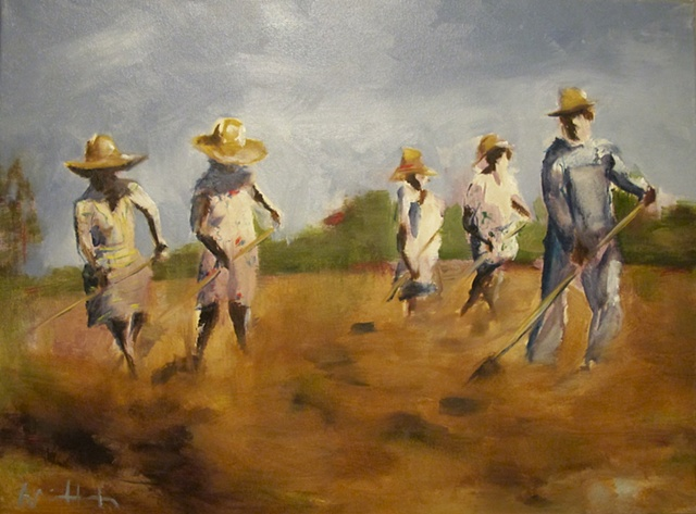 field, hot, southern, sharecroppers