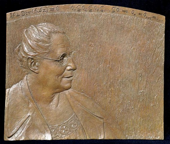 Full size bronze plaque, very limited edition. Collection of University of Gottingen, and in private collections.