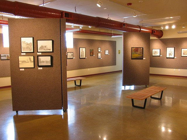 Exhibition of drawings, paintings and sculpture by Stephanie Magdziak and Ron Berlin, in the Kresge Art Gallery at Olivet College, Michigan.