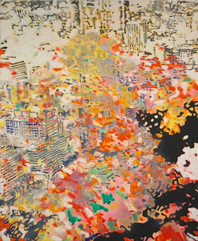 "Untitled oil and acrylic on canvas 32 x 26"" 2011 private collection"
