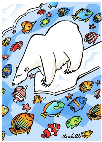 Holiday Polar Bear Global Warming