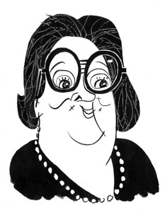 Elaine Kaufman by Tom Bachtell (The New Yorker, Talk of the Town, LEGACIES FOUR HUNDRED DRESSES by Gay Talese)