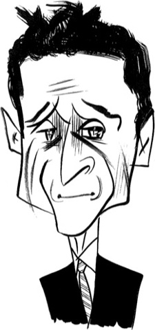 Anthony Weiner by Tom Bachtell (Talk of the Town, The New Yorker, The Public on the Private by Margaret Talbot)